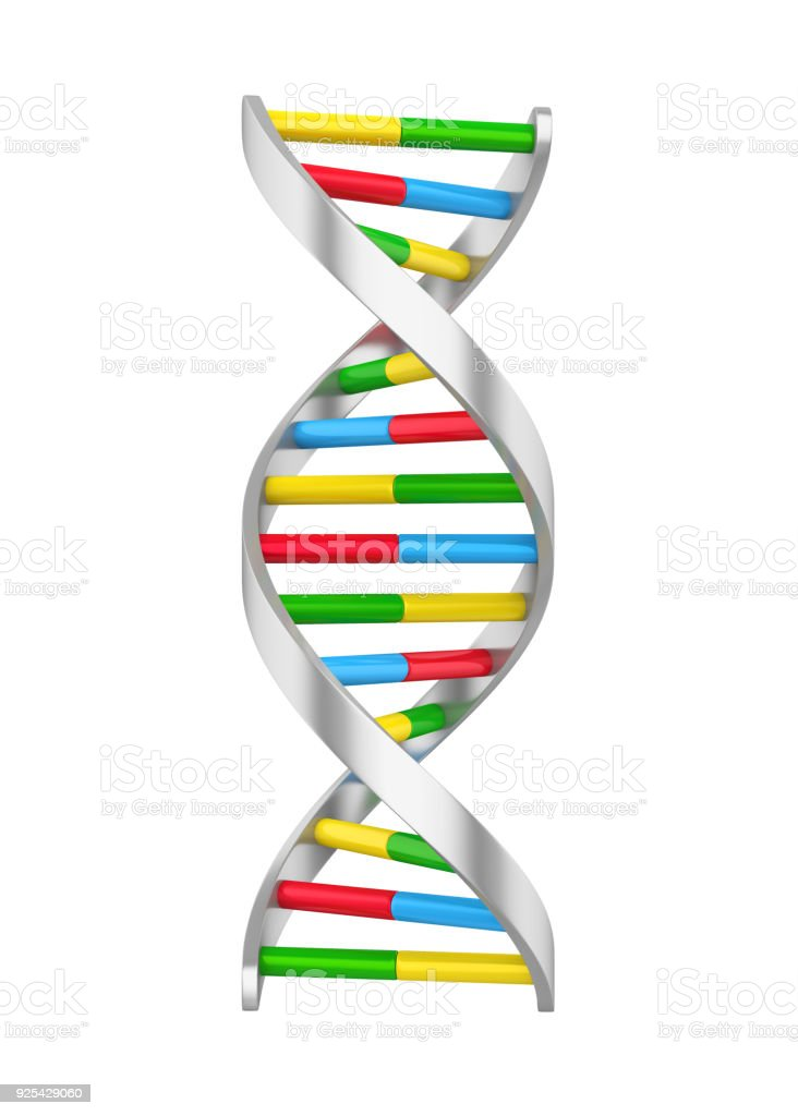 DNA Molecule Isolated stock photo