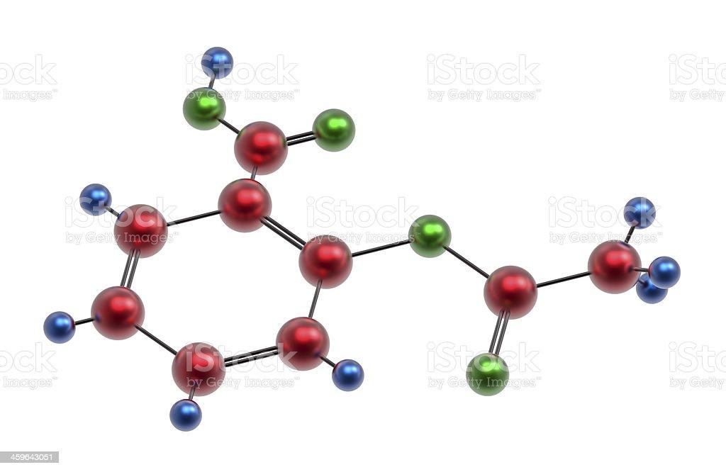 Molecule of acetylsalicylic acid stock photo
