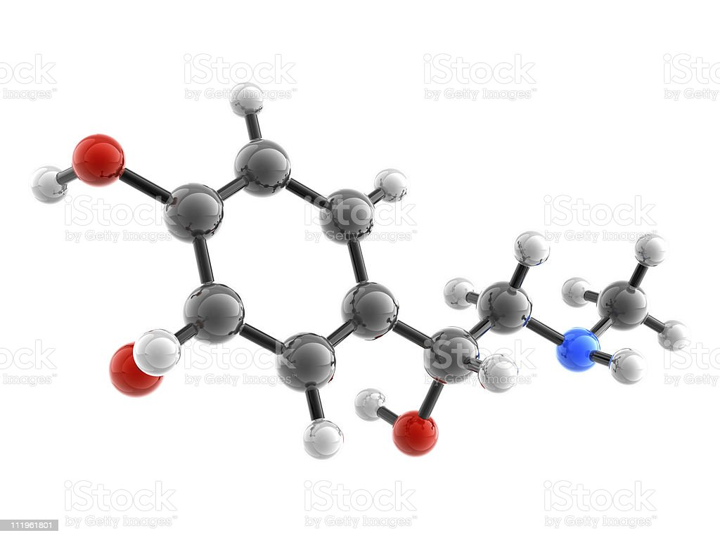Molecule of Adrenaline royalty-free stock photo