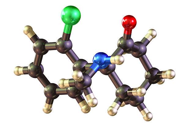 molecule of ketamine - ketamine stockfoto's en -beelden