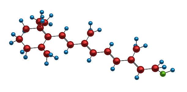 molécula de retinol - vitamina a fotografías e imágenes de stock