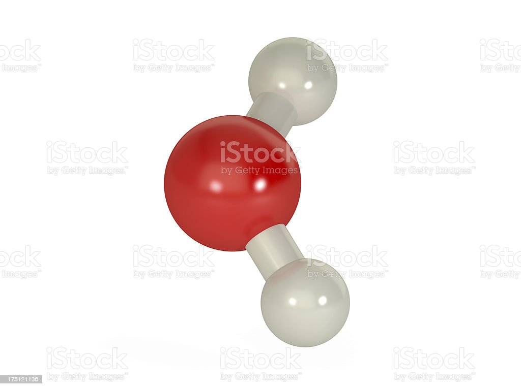 molecule of water, isolated on white stock photo