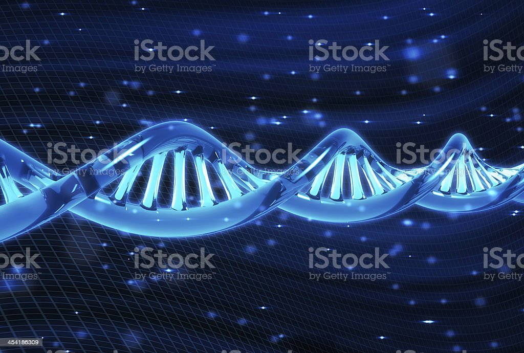 DNA molecule royalty-free stock photo