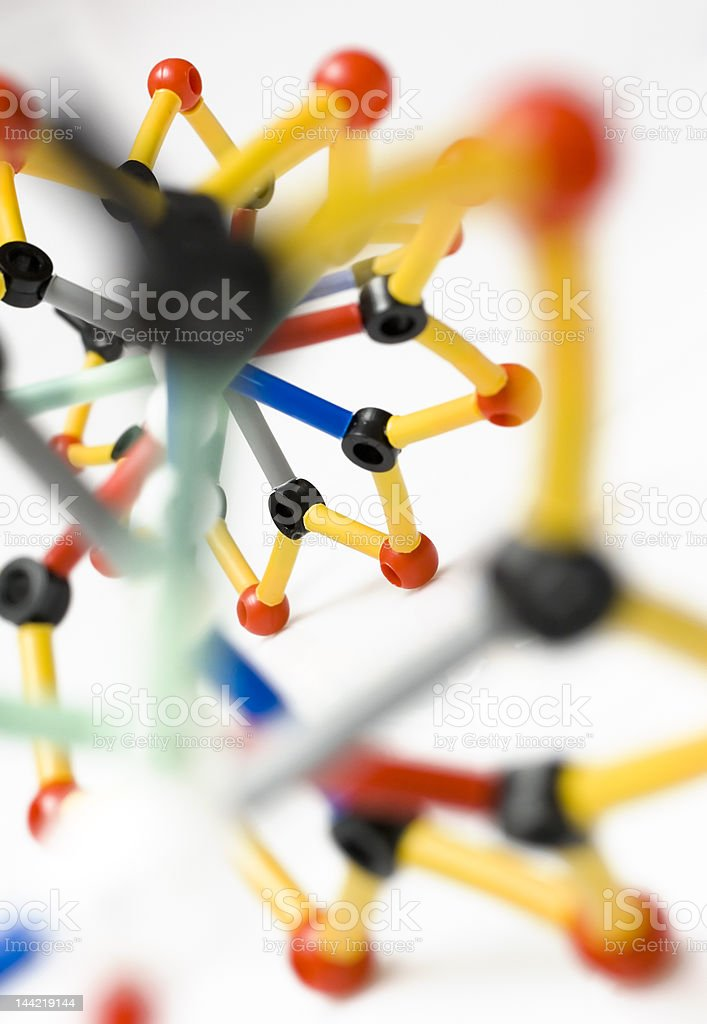 molecule structure close-up royalty-free stock photo
