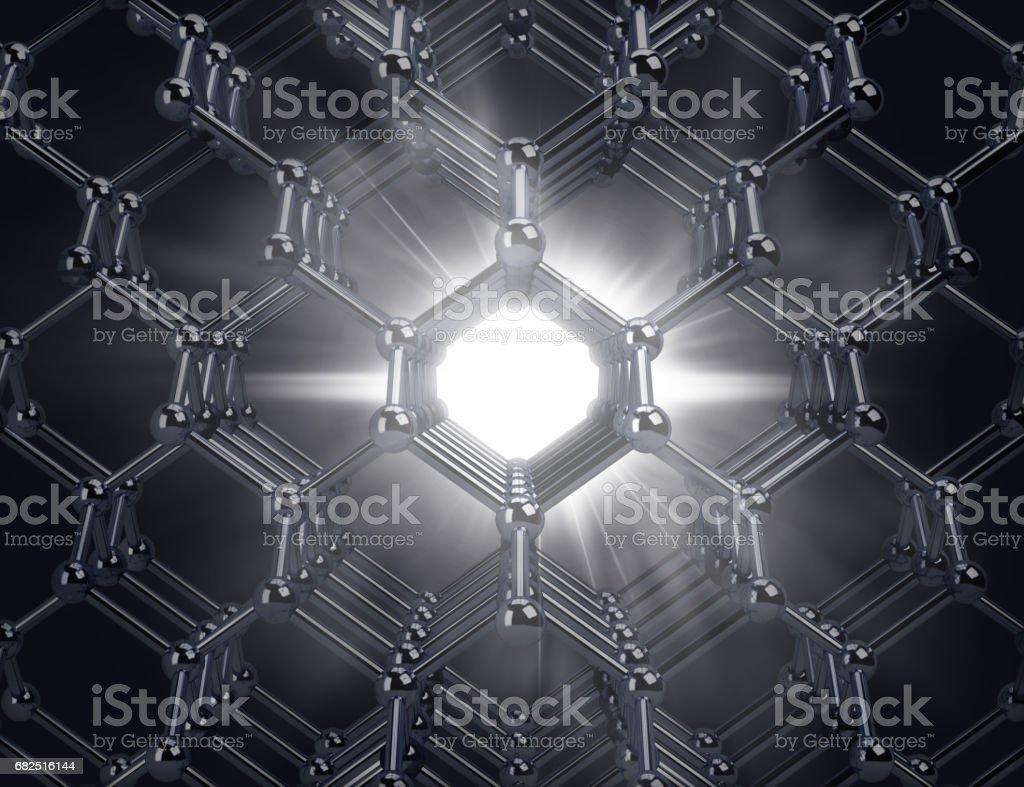 molecule with a flash in the center Стоковые фото Стоковая фотография