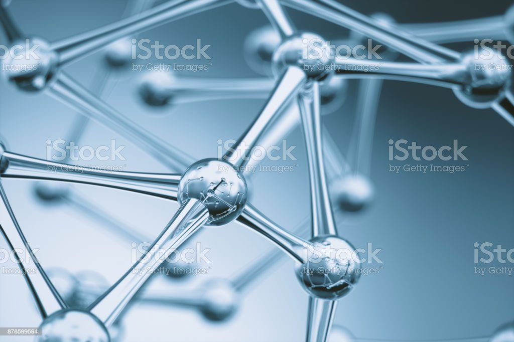 Molecules Background stock photo