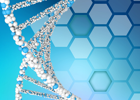 istock DNA molecules on an abstract background 486664074