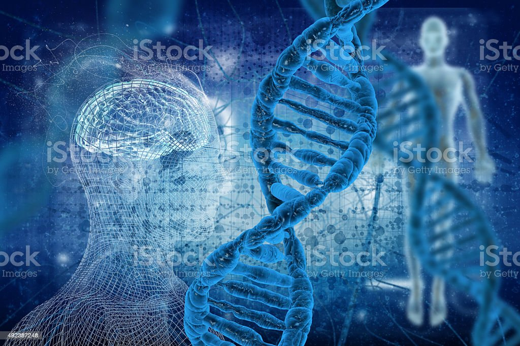 DNA molecules stock photo