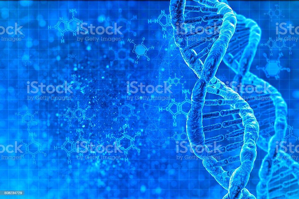 DNA molecules stock photo