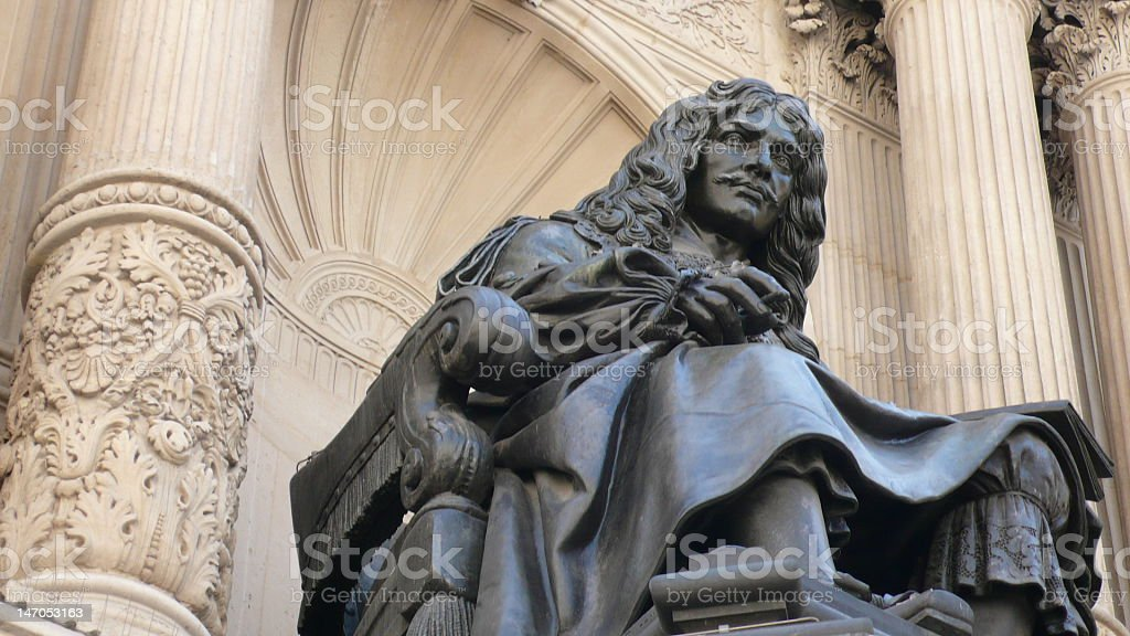 Moliere monument stock photo