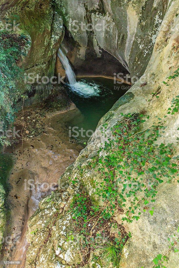 Molina Waterfall Park, Italy royalty-free stock photo