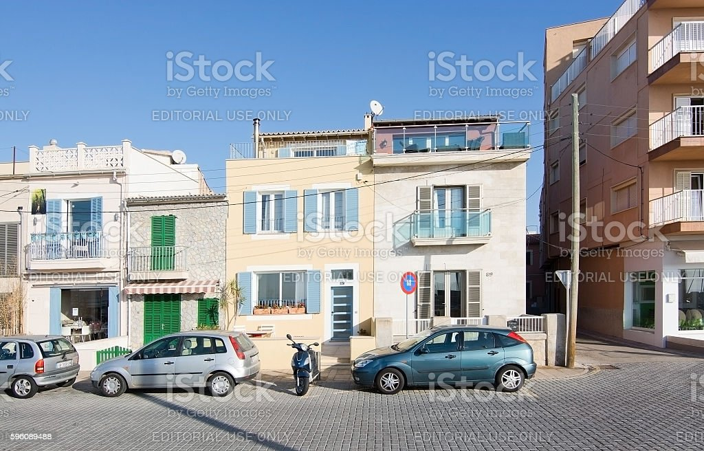 Molinar buildings in sunshine royalty-free stock photo