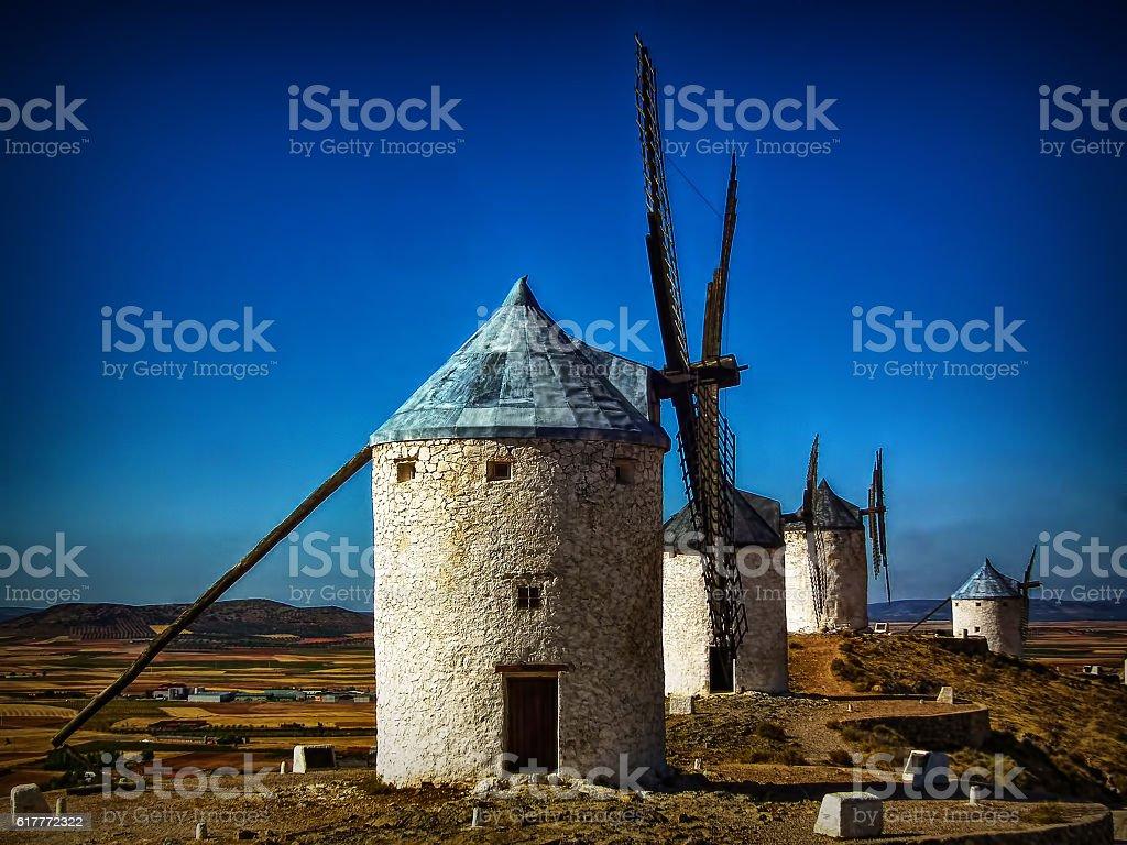 Molinos de viento - Consuegra - Toledo stock photo