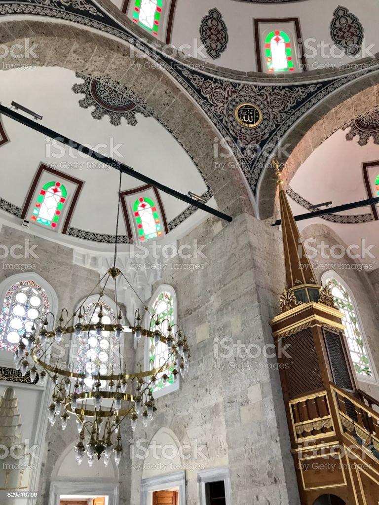Molla Celebi Mosque in Findikli District stock photo