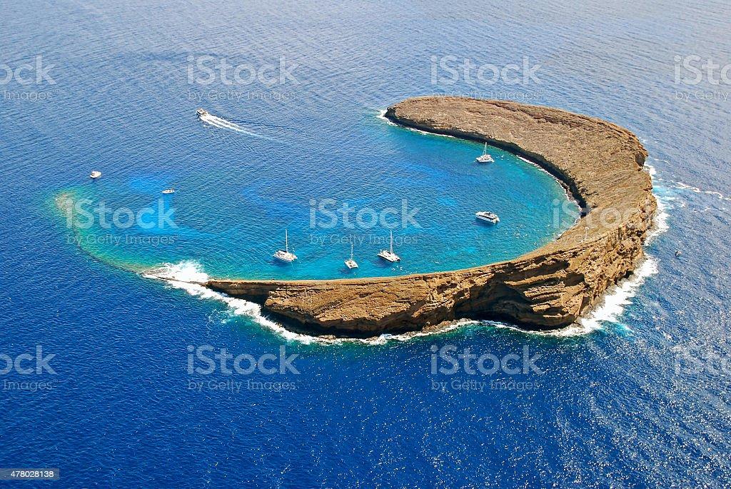 Molokini Island Hawaii stock photo