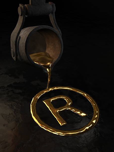 Molten gold - Trademark symbol stock photo