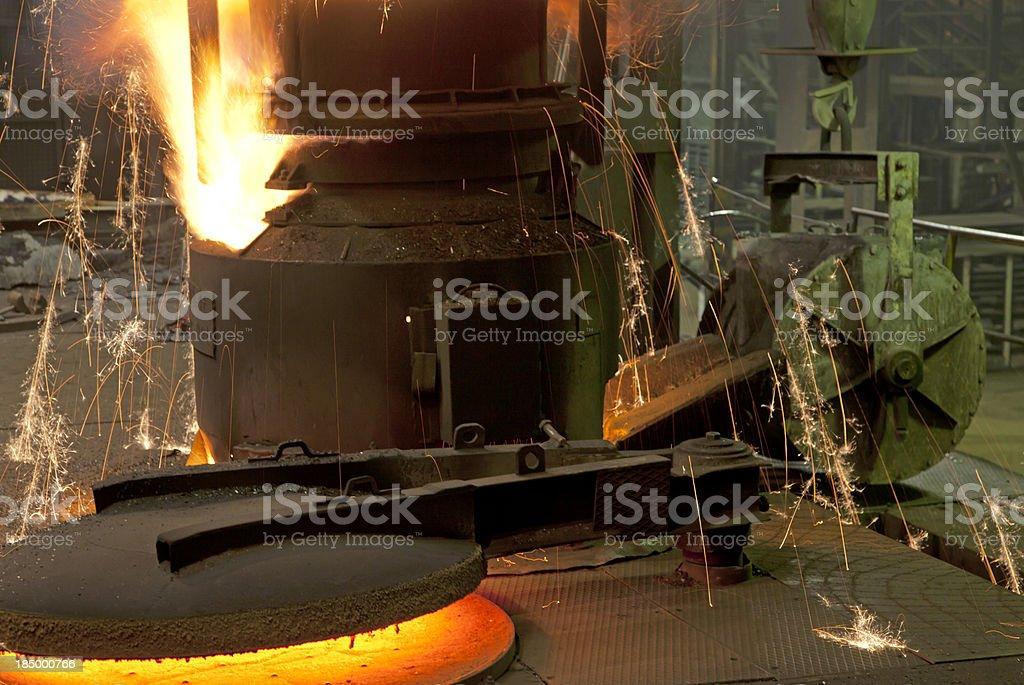 Molten Iron royalty-free stock photo