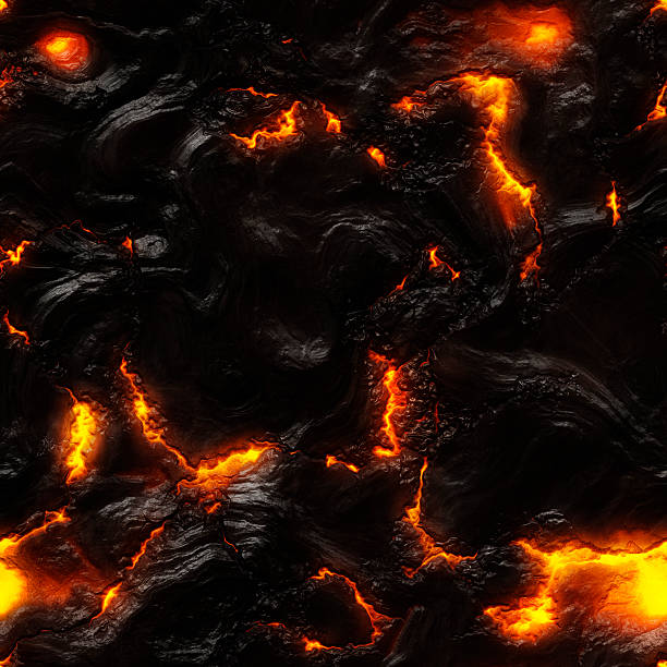 Molten lava background Very detailed computer generated lava background with heat cracks. volcanic landscape stock pictures, royalty-free photos & images