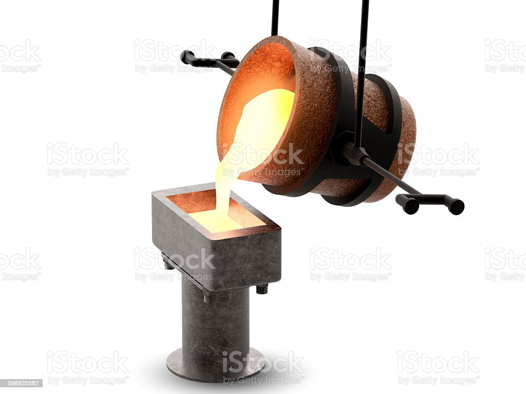 molten metal stock photo
