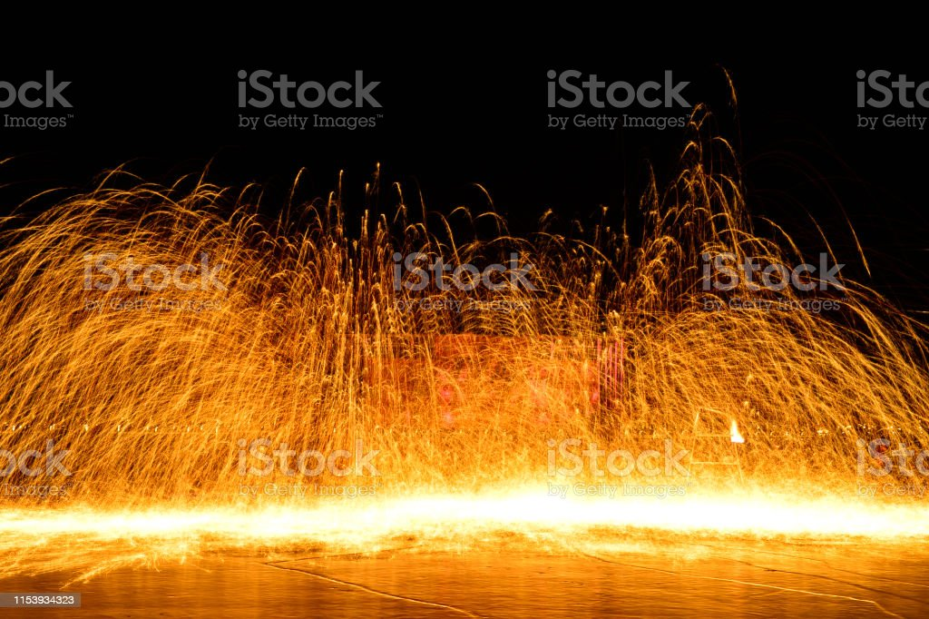 Molten steel in high temperature melting, non-material cultural...