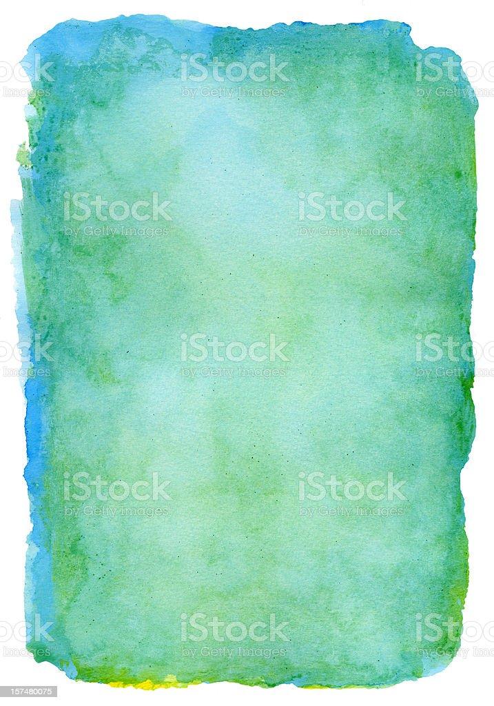 Molucas Green Watercolour royalty-free stock photo