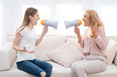 istock Mom and a teenage daughter are arguing with each other. 897429120