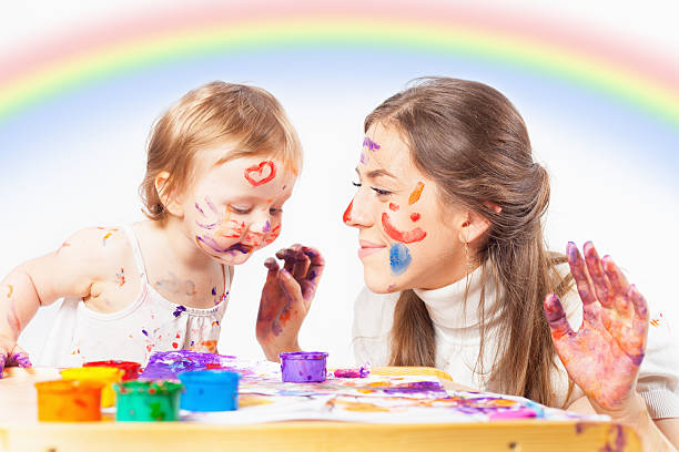 Mom and baby draws with colored inks paint picture id544480442?b=1&k=6&m=544480442&s=612x612&w=0&h=n33z31tdwsotbefltnk vfj pz7m aw0sdwlnrcacg0=