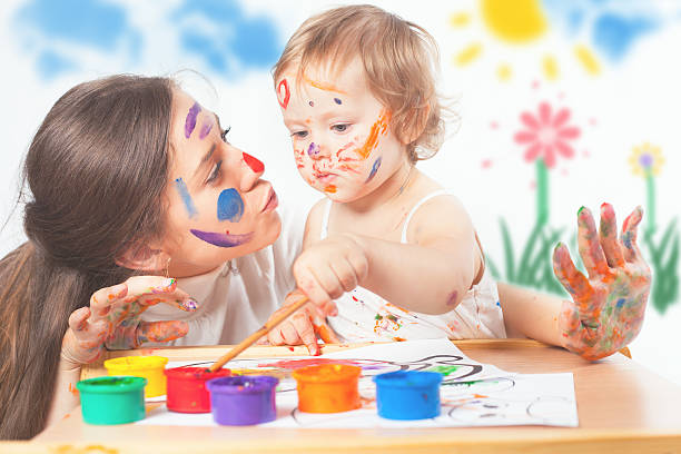 Mom and baby draws with colored inks paint picture id545273358?b=1&k=6&m=545273358&s=612x612&w=0&h=z6el70inarmzorc5 nt8i9eyw j108iq8tf2dyqpsca=