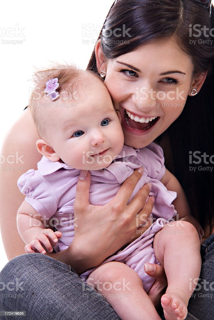 Mom and Baby royalty-free stock photo
