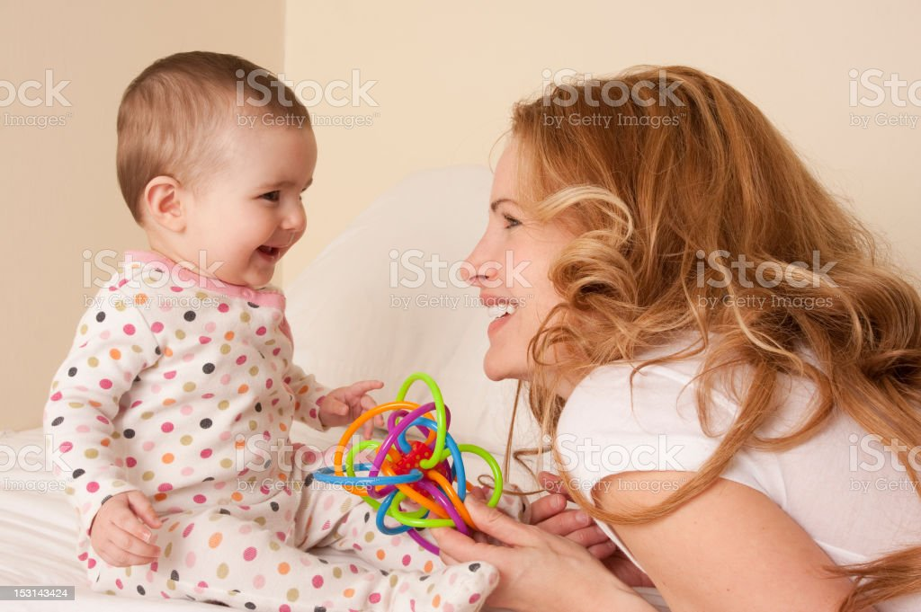 mom and baby smiling royalty-free stock photo