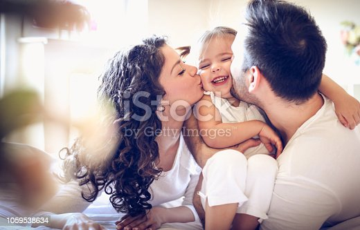 istock Mom and Dad's love. 1059538634