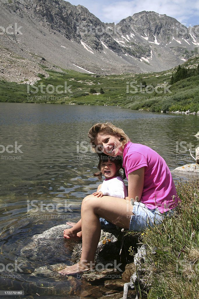 Mom and Daughter Bonding royalty-free stock photo