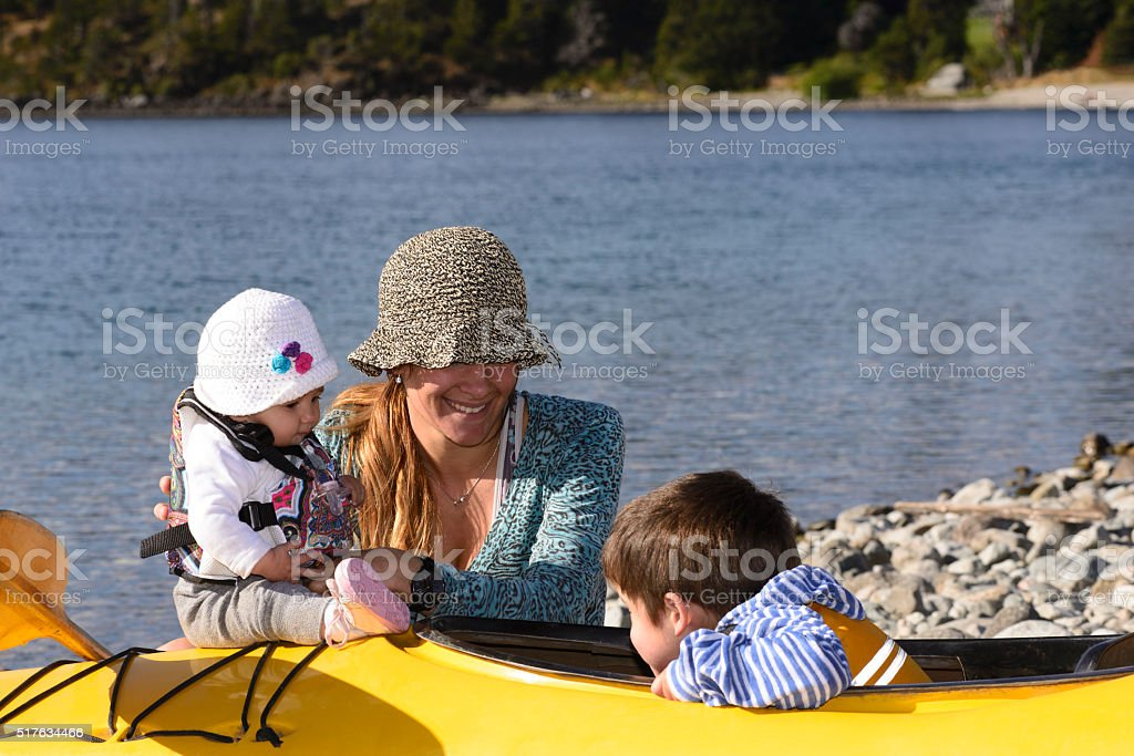 Mom and Daughter Enjoying stock photo