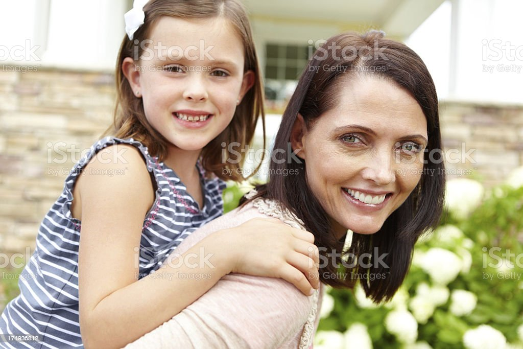 Mom and daughter fun time royalty-free stock photo