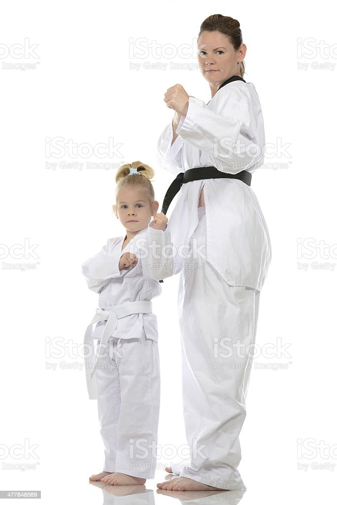 Mom and Daughter royalty-free stock photo