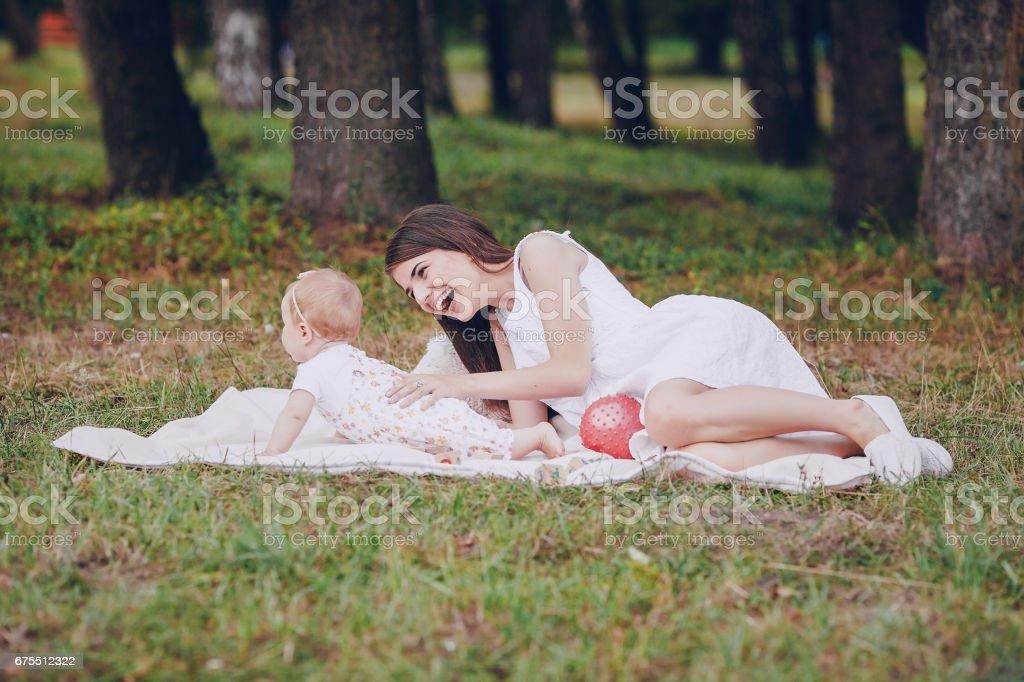 Anne ve kızı royalty-free stock photo