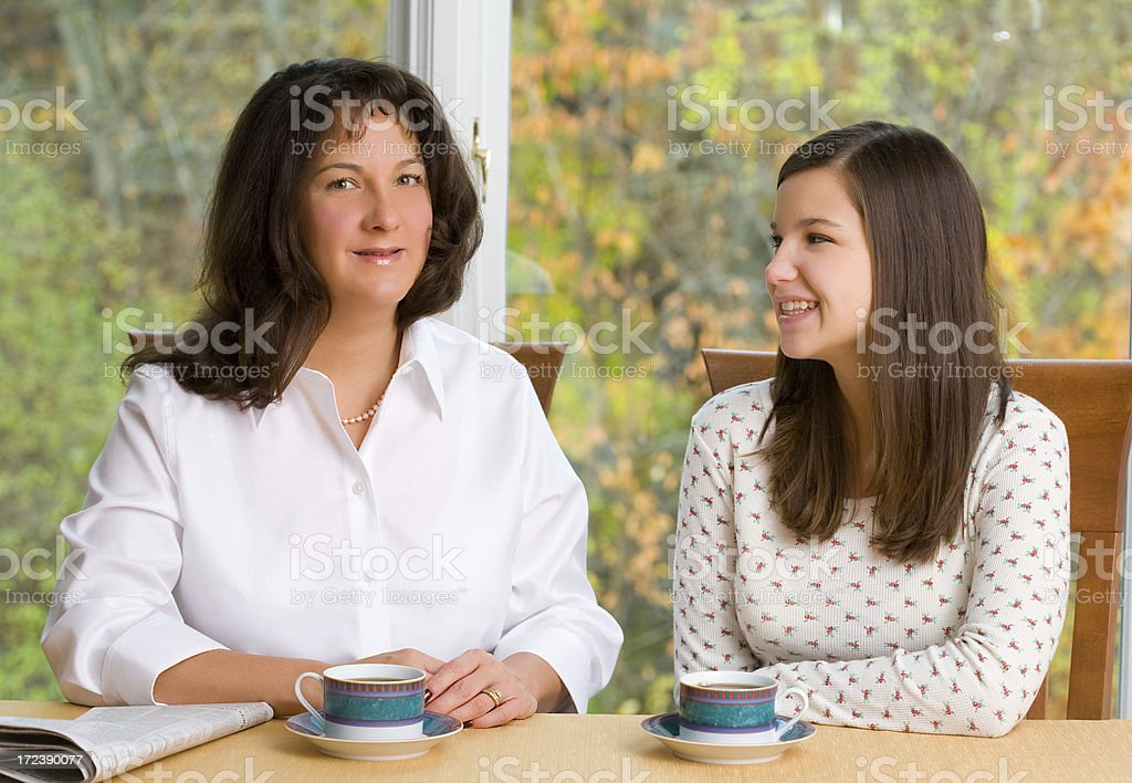 Mom and Daughter Time royalty-free stock photo