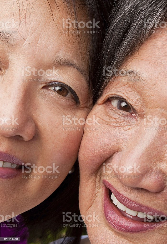 Mom and Grandmother royalty-free stock photo