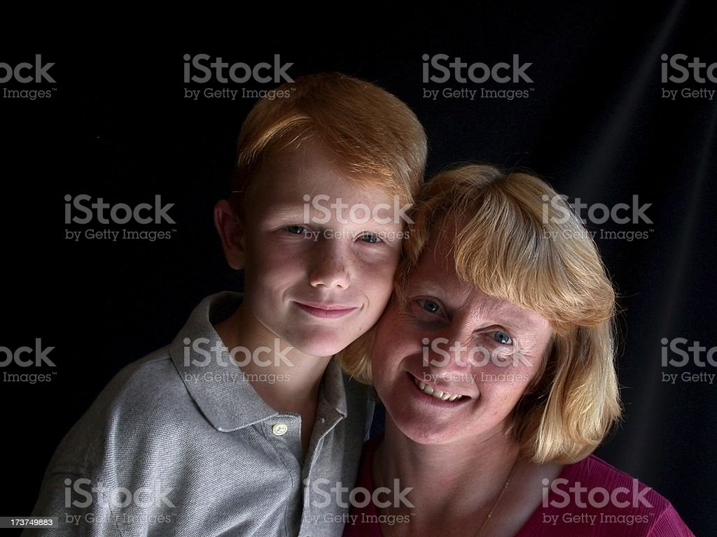 Mom and Son royalty-free stock photo