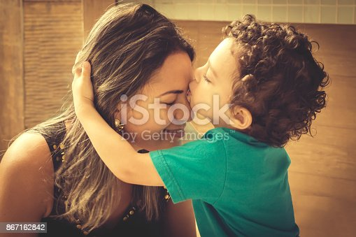 istock Mom and son 867162842