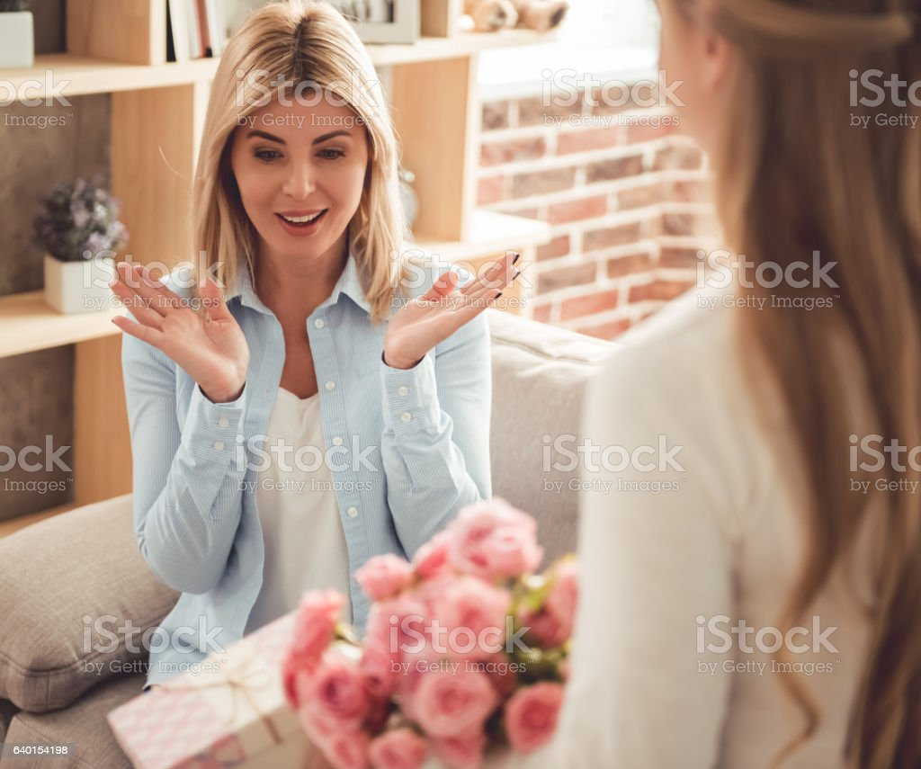 Mom And Teenage Daughter Royalty Free Stock Photo