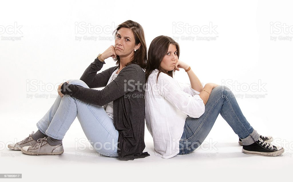 mom and teenager anger royalty-free stock photo