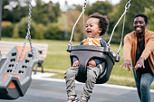 istock Mom and toddler in the playground 1191524912