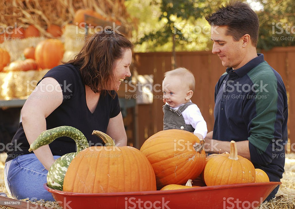 Mom Dad and Baby royalty-free stock photo
