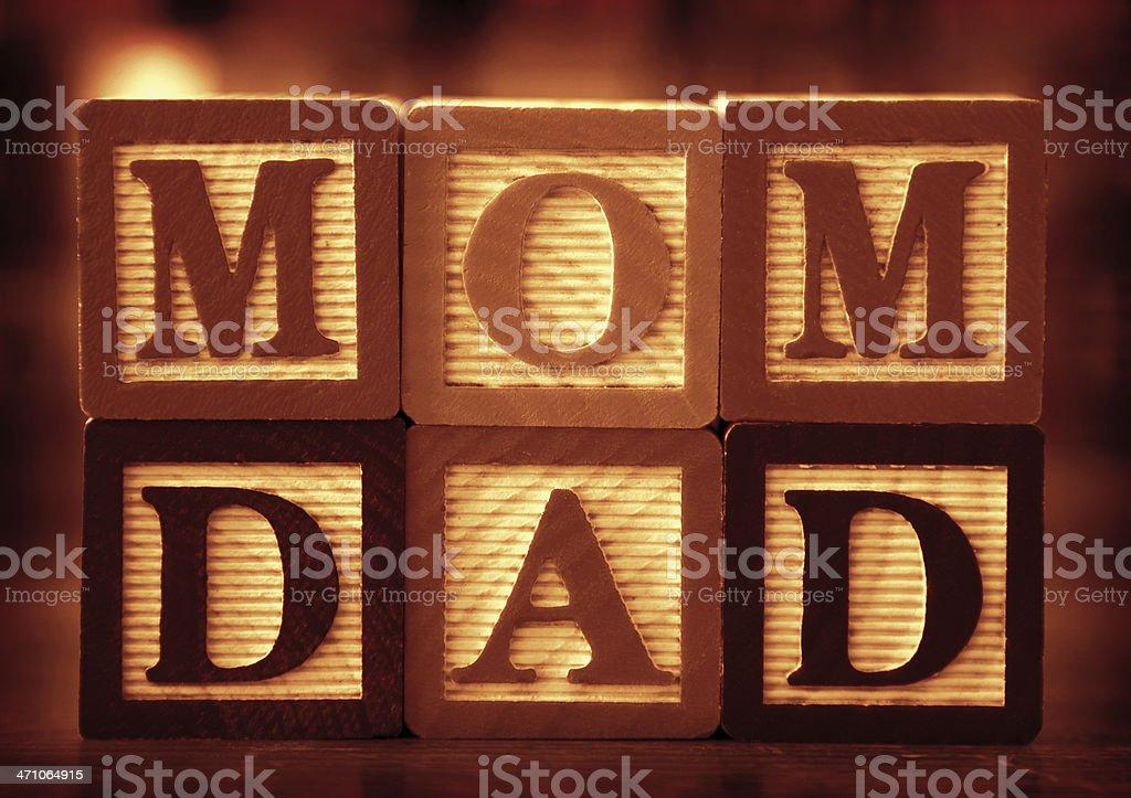 Mom & Dad royalty-free stock photo