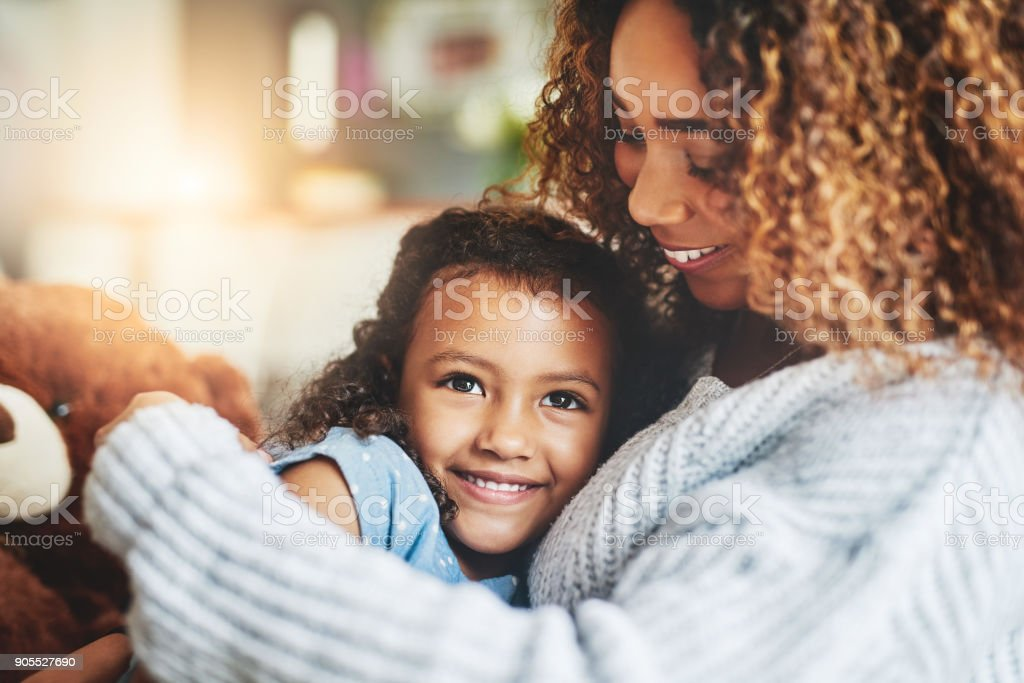 Mom hugs, nothing quite like them stock photo