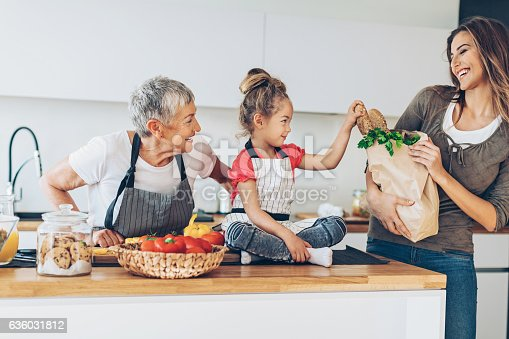 638984280 istock photo Mom is home with the groceries 636031812