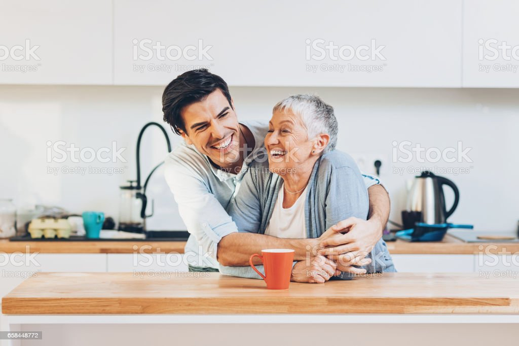 Mom is the best! stock photo