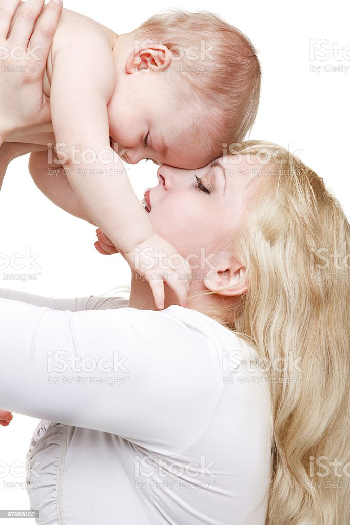 Mom playing with baby royalty-free stock photo