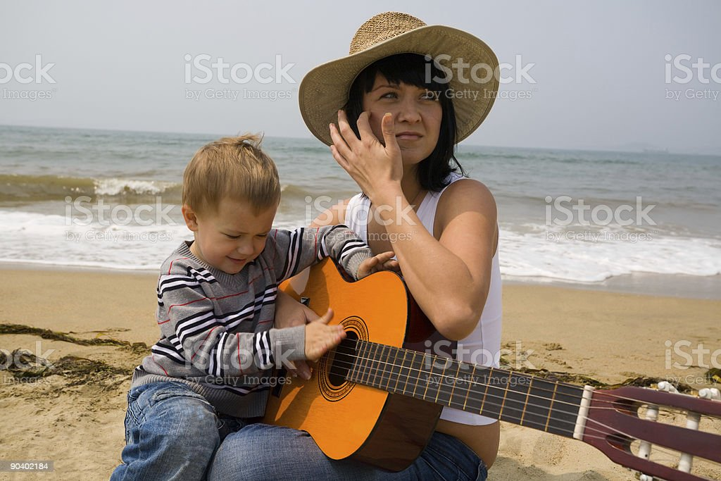 mom & son royalty-free stock photo
